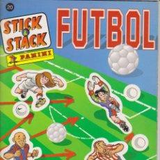 Álbum de fútbol completo: STICK & STACK FUTBOL PNINI. ALBUM NUEVO COMPLETO CON LOS CROMOS PEGATINAS SIN PEGAR.. Lote 51191824
