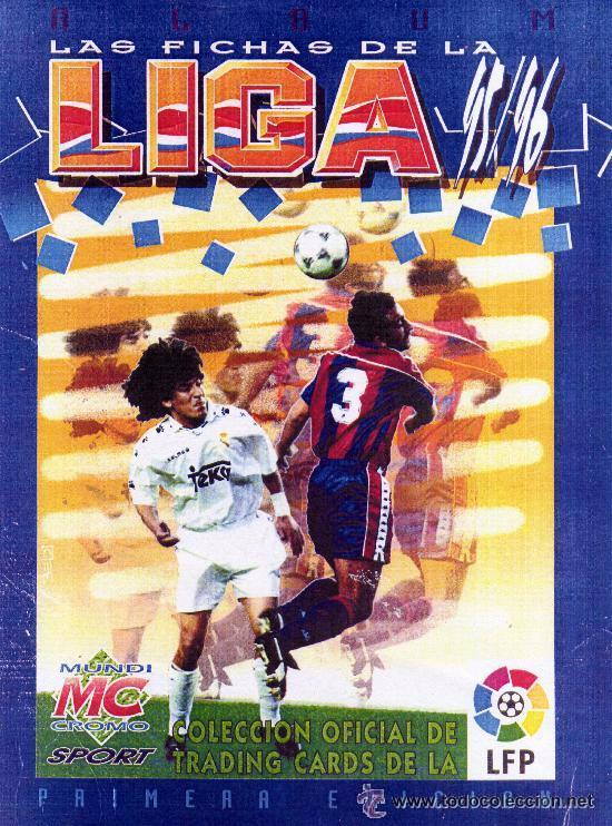 MUNDICROMO LAS FICHAS DE LA LIGA 95-96 COMPLETO 455 CROMOS Y LOS DOS ERRORES PURK Y YAW DEL RACING (Coleccionismo Deportivo - Álbumes y Cromos de Deportes - Álbumes de Fútbol Completos)