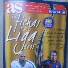 Álbum de fútbol completo: ALBUM AS FUTBOL LAS FICHAS DE LA LIGA 2005 MUNDICROMO CONTIENE 246 CROMOS COMPLETO. Lote 51926143