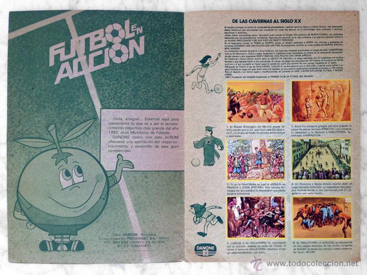 Álbum de fútbol completo: ALBUM DE CROMOS - FÚTBOL EN ACCIÓN - DANONE - 1981 (COMPLETO - 96 CROMOS) - Foto 2 - 52407646