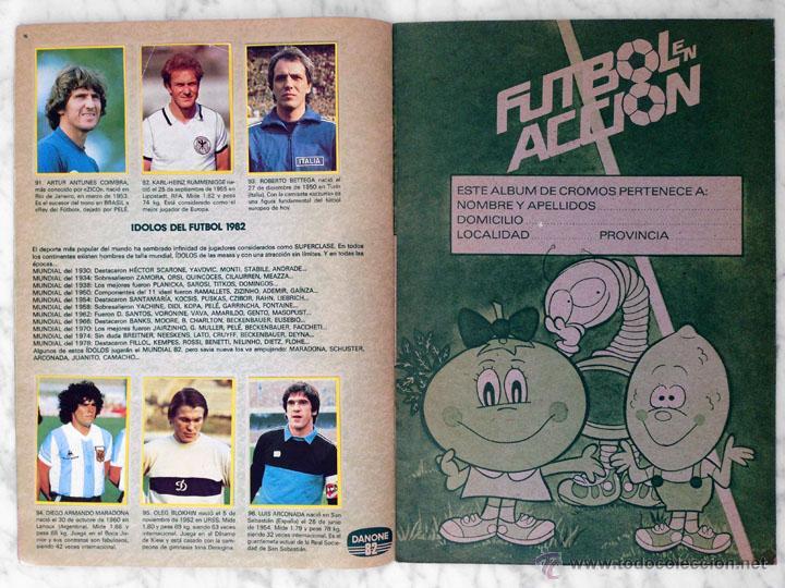 Álbum de fútbol completo: ALBUM DE CROMOS - FÚTBOL EN ACCIÓN - DANONE - 1981 (COMPLETO - 96 CROMOS) - Foto 5 - 52407646