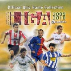 Álbum de fútbol completo: ÁLBUM VACÍO DE ANILLAS CON HOJAS MUNDICROMO QUIZ GAME 2009 2010. Lote 227040850