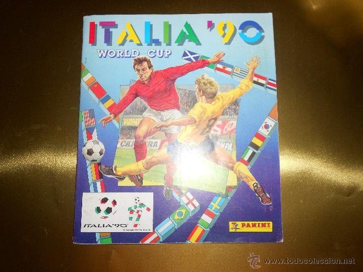 ALBUM DE CROMOS ITALIA 90 WORLD CUP - PANINI - COMPLETO - COPA DEL MUNDO (Coleccionismo Deportivo - Álbumes y Cromos de Deportes - Álbumes de Fútbol Completos)