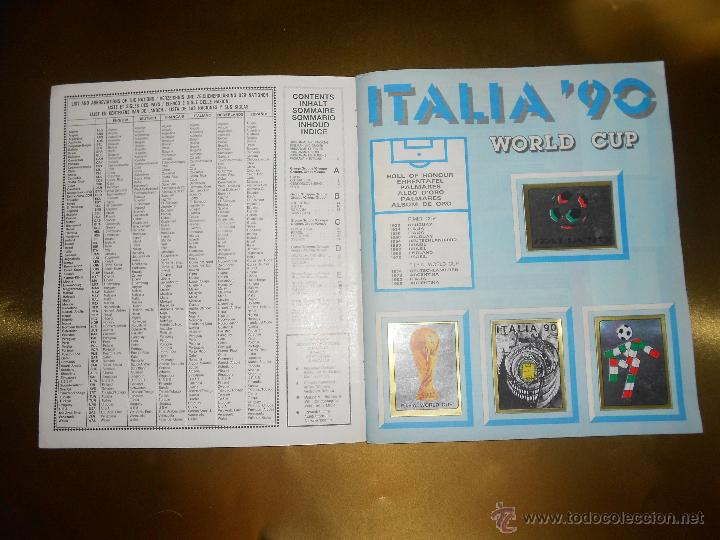 Álbum de fútbol completo: ALBUM DE CROMOS ITALIA 90 WORLD CUP - PANINI - COMPLETO - COPA DEL MUNDO - Foto 2 - 52482959