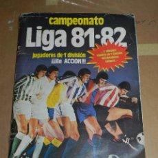 Álbum de fútbol completo: ALBUM CAMPEONATO LIGA 81 / 82 , EDT ESTE , COMPLETO CON TODOS LOS FICHAJES. Lote 52529863