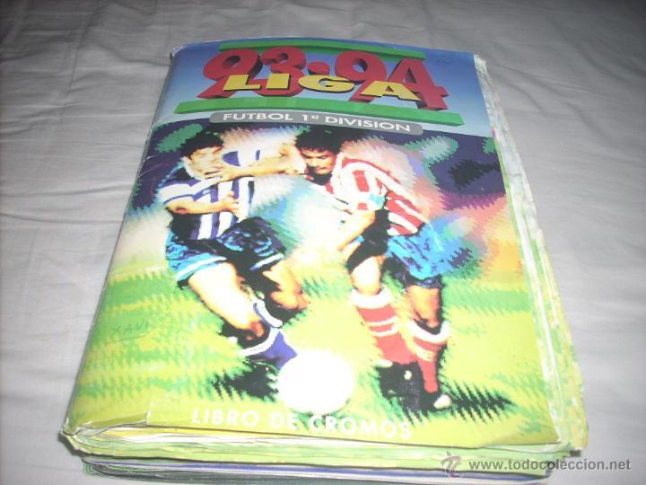 INCREIBLE ALBUM DE LA LIGA 1993-94 DE ESTE COMPLETO Y CON MAS 50 CROMOS DOBLES (Coleccionismo Deportivo - Álbumes y Cromos de Deportes - Álbumes de Fútbol Completos)