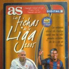 Álbum de fútbol completo: ARCHIVADOR LAS FICHAS DE LA LIGA 2005 DE AS MUNDICROMO. COMPLETO. 246 FICHAS. 04-05, 2004. Lote 53190850