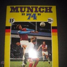 Álbum de fútbol completo: MUNICH 74 - X CAMPEONATOS MUNDIALES DE FUTBOL - CON POSTER CENTRAL ESTADIO-COMPLETO- (ZC-37). Lote 53235471