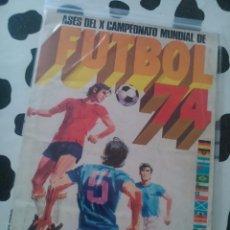 Álbum de fútbol completo: ALBUM ASES DEL X CAMPEONATO DEL MUNDO 1974. Lote 53637468