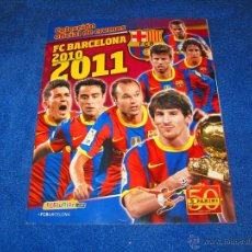 Álbum de fútbol completo: FC BARCELONA 2010/2011 (PANINI) - COLECCIÓN COMPLETA Y EN PERFECTO ESTADO. Lote 53647536