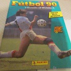 Álbum de fútbol completo: ALBUM FUTBOL 90 COMPLETO CROMOS. Lote 54866414