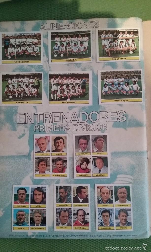 Álbum de fútbol completo: ÁLBUM COMPLETO CROMOS LIGA 81-82 - Foto 14 - 55108392
