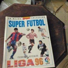 Álbum de fútbol completo: ALBUM SUPER FUTBOL, SPORT LIGA 96 (COMPLETO). Lote 55133335