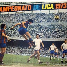 Álbum de fútbol completo: ALBUM 1973 1974 LIGA 73 74 FHER DISGRA. CRUYFF, CARNEVALI, AYALA. COMPLETO CROMOS, SIN POSTER. Lote 53304323