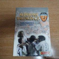 Álbum de fútbol completo: ALBUM DEL VALENCIA C. DE F. TEMPORADA 2000/01. Lote 55853364