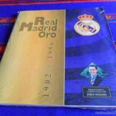 Álbum de fútbol completo: REAL MADRID ORO 1902 1996 COMPLETO EN BUEN ESTADO GENERAL.. Lote 45497406