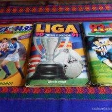 Álbum de fútbol completo: ESTE LIGA 90 91 1990 1991, 93 94 1993 1994 Y 94 95 1994 1995 COMPLETO. CON 81 BAJAS BAJA SIN PEGAR!!. Lote 56737635