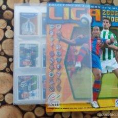Álbum de fútbol completo: COLECCION COMPLETA EN ARCHIVADOR + ALBUM PLANCHA VACIO EDICIONES ESTE 2005 2006 - LEER DESCRIPCION ¡. Lote 56852591