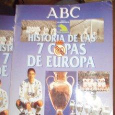 Caderneta de futebol completa: HISTORIA DE LAS 7 COPAS DE EUROPA, ALBUM COMPLETO -EDITA : ABC. Lote 56985264