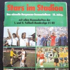 Álbum de fútbol completo: ALBUM DE CROMOS BERGMANN BUNDESLIGA 1981-82 - 100% COMPLETO. Lote 29758735