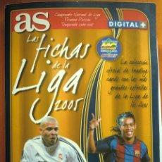 Álbum de fútbol completo: ALBUM ARCHIVADOR LAS FICHAS DE LA LIGA 2004-2005 DE MUNDICROMO AS. 04-05. COMPLETO.. Lote 57282323