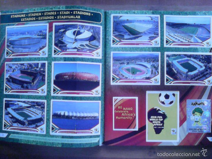 Álbum de fútbol completo: Album Fifa world cup SOUTH AFRICA Mundial Futbol 2010. Completo.Muy Buen estado. Panini - Foto 2 - 57448516