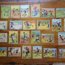 Álbum de fútbol completo: RARA Y DIFÍCIL COLECCIÓN DE CROMOS 'COMO SE JUEGA AL FÚTBOL', AÑOS 40.NO HAY OTRA COMO ESTA EN VENTA. Lote 57684394