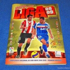 Álbum de fútbol completo: LIGA 2008/2009 (ED. ESTE) - COLECCIÓN COMPLETA CON TODOS LOS EXTRAS - EN PERFECTO ESTADO. Lote 58554451