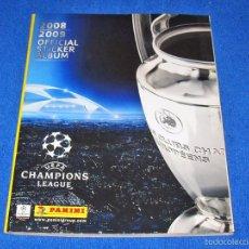 Álbum de fútbol completo: UEFA CHAMPIONS LEAGUE 2008/2009 (PANINI) - COLECCIÓN COMPLETA Y EN EXCELENTE ESTADO. Lote 58556036