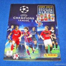 Álbum de fútbol completo: UEFA CHAMPIONS LEAGUE 2009/2010 (PANINI) - COLECCIÓN COMPLETA Y EN EXCELENTE ESTADO. Lote 58556063