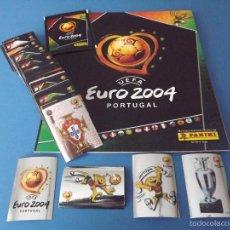 Álbum de fútbol completo: ALBUM DE CROMOS PANINI EURO PORTUGAL 2004 - 100% COMPLETO A PEGAR. Lote 246143710