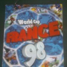 Álbum de fútbol completo: ÁLBUM DEL MUNDIAL WORLD CUP FRANCE 98 (DS) FALTAN;8CROMOS. Lote 58962820