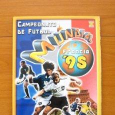 Álbum de fútbol completo: CAMPEONATO MUNDIAL DE FÚTBOL FRANCIA 98 - EDICIONES ESTADIO - COMPLETO, 514 CROMOS, VER FOTOS. Lote 59810764