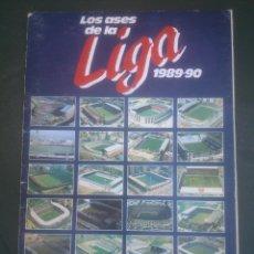 Álbum de fútbol completo: ALBUM FUTBOL LOS ASES DE LA LIGA 89 90 AS COMPLETO. Lote 60211791