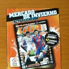 Álbum de fútbol completo: MERCADO DE INVIERNO 2015-2016, 15-16 - EDICIONES ESTE - COMPLETO, 42 CROMOS PEGADOS - VER FOTOS. Lote 60517115