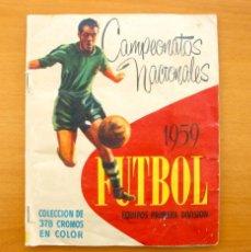 Álbum de fútbol completo: CAMPEONATOS NACIONALES DE FUTBOL 1959, 58-59 - EDITORIAL RUIZ ROMERO - COMPLETO. Lote 61088359