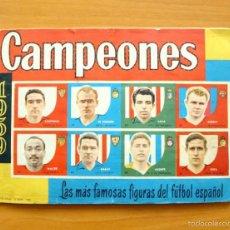 Álbum de fútbol completo: CAMPEONES 1959, 58-59 - COMPLETO - MAS 18 CROMOS DOBLES SUELTOS - EDITORIAL BRUGUERA. Lote 61090771