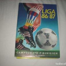 Álbum de fútbol completo: INCREIBLE ALBUM NUEVISIMO DE LA LIGA 1986-87 DE ESTE ,COMPLETO. Lote 85531492