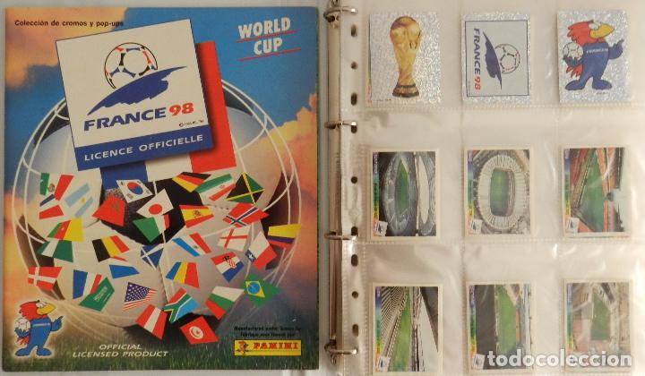 COLECCION COMPLETA PANINI MUNDIAL FRANCIA 1998 ALBUM VACIO + CROMOS WORLD CUP FULL SET WC FRANCE 98 (Coleccionismo Deportivo - Álbumes y Cromos de Deportes - Álbumes de Fútbol Completos)