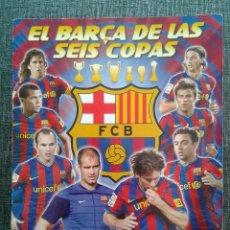 Álbum de fútbol completo: EL BARÇA DE LAS SEIS 6 COPAS 2009-2010, ALBUM COMPLETO. PANINI, ED. OFICIAL FUTBOL CLUB BARCELONA. Lote 62195976