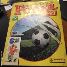 Álbum de fútbol completo: FUTBOL 92 93 PANINI COMPLETO. Lote 62536280