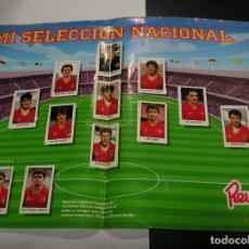 Álbum de fútbol completo: POSTER MI SELECCION NACIONAL COMPLETO Y BUEN ESTADO PUBLICIDAD CHORIZO REVILLA APORTO MUCHAS FOTOS. Lote 63271848