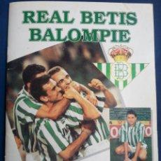 Álbum de fútbol completo: ÁLBUM DE CROMOS DEL REAL BETIS BALOMPIE.(COMPLETO).. Lote 63438682