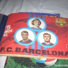 Álbum de fútbol completo: ALBUM 75 AÑOS DEL BARCELONA ,AÑO 1974 COMPLETO Y CON CARPETA INCLUIDA. Lote 65682634