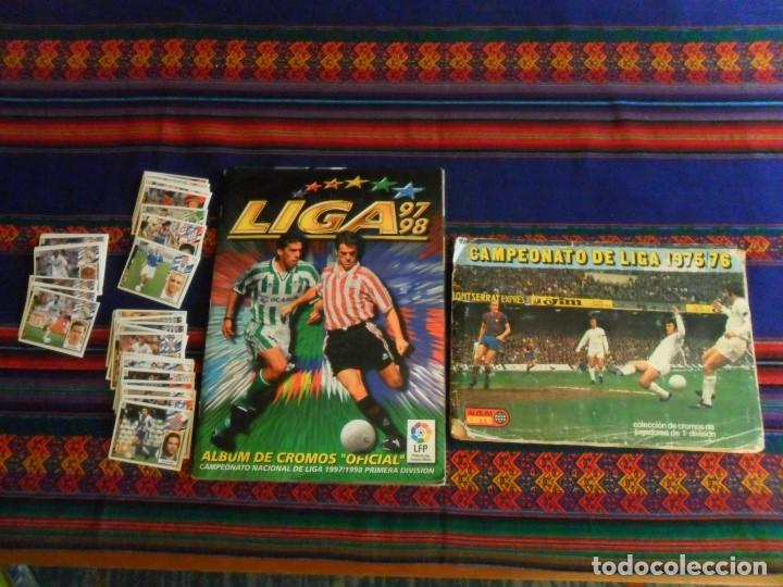 ESTE LIGA 1975 1976 75 76 INCOMPLETO 1997 1998 97 98 COMPLETO. REGALO ARTUA ESPAÑA 1982 Y FÚTBOL 88. (Coleccionismo Deportivo - Álbumes y Cromos de Deportes - Álbumes de Fútbol Completos)