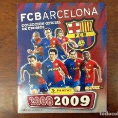 Álbum de fútbol completo: FCBARCELONA COLECCIÓN OFICIAL CROMOS PANINI 2008-2009 ÁLBUM COMPLETO.NUEVO. Lote 68747587