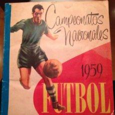 Álbum de fútbol completo: ÁLBUM DE CROMOS COMPLETO CAMPEONATO NACIONAL 1959. Lote 68991385