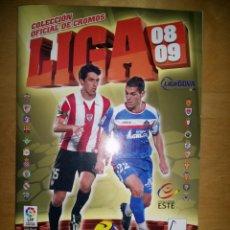 Álbum de fútbol completo: ALBUM LIGA ESTE 08/09 COMPLETO Y CON COLOCAS. Lote 69639009