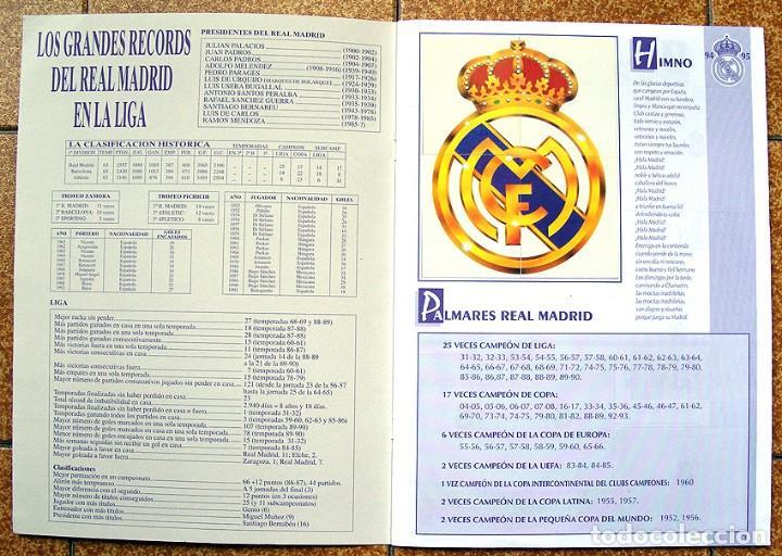 Álbum de fútbol completo: album 1994 Excelente estado, Real Madrid Futbol y Baloncesto. Himno Historia Jugadores - Foto 2 - 70029161
