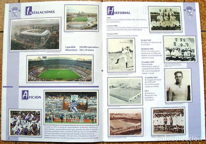 Álbum de fútbol completo: album 1994 Excelente estado, Real Madrid Futbol y Baloncesto. Himno Historia Jugadores - Foto 3 - 70029161